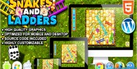 And snakes ladders game board html5