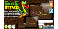 Attack snake game survival html5