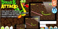 Attack snake game survival html5