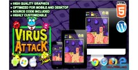 Attack virus game arcade html5