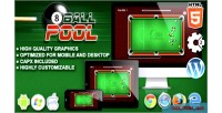 Ball 8 pool game construct html5