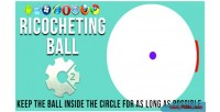 Ball ricocheting html5 game