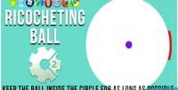 Ball ricocheting html5 game