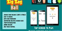 Ball zigzag html5 game version mobile html capx