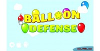 Balloon defense html5 game construct2 capx ads cocoon mobile