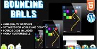 Balls bouncing game skill html5