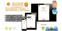 Basketball swipe game sport html5