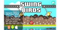 Birds swing