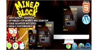 Block miner game puzzle html5