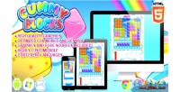 Blocks gummy game puzzle html5
