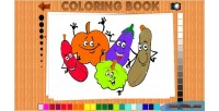 Book coloring game educational html5