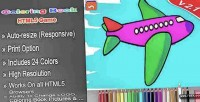 Book coloring html5 game