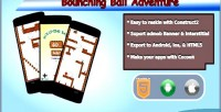 Bounching ball adventure html5 admob game mobile