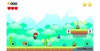 Boy adventures html5 2d game scroller side boy