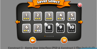 C2 game user interface dark levelselection with