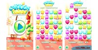 Candy match 3 html5 game android capx admob candy