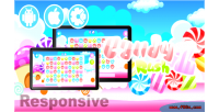Candy rush 2 resposive landscape html5 game mobile desktop
