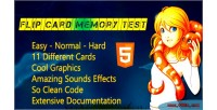 Card flip memory game html5 test