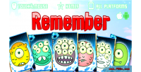 Card remember game mobile html5