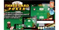 Card three poker game casino html5