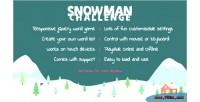 Challenge snowman word game