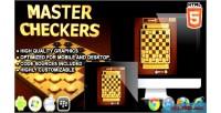 Checkers master game board html5