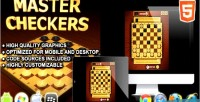 Checkers master game board html5