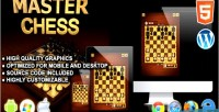Chess master game board html5