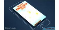 Chicken happy jump