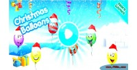 Christmas balloons html5 mobile capx game