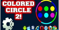 Circle colored game html5 2