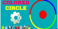 Circle colored html5 game