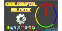Clock colorful html5 game