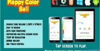 Color flappy ball html5 mobile game html capx