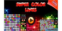 Color lines html5 mobile capx game color