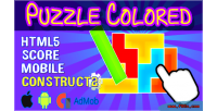Colored puzzle html5 admob