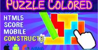 Colored puzzle html5 admob