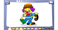Coloring book for kids game educational html5