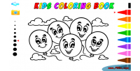 Coloring kids game game educational html5