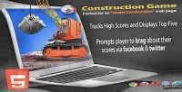 Under construction html5 game sharing social with