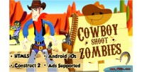 Cowboy shoot zombies html5 capx android