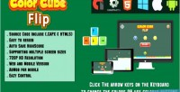 Cube color flip game html5 html capx