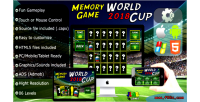 Cup world 2018 soccer memory capx game html5 mobile and