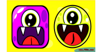 Cute monsters tic tac game html5 toe
