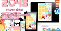 Cuteness 2048 edition game skill html5