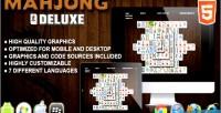 Deluxe mahjong html5 game