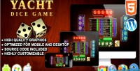 Dice yacht game game board html5