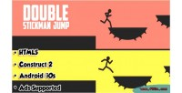 Double stickman jump html5 admob android game
