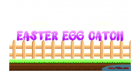 Easter egg catch construct template game 2