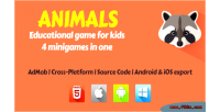 Educational animals kids for game